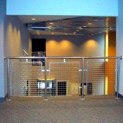 stainless steel wire mesh railing infill panels