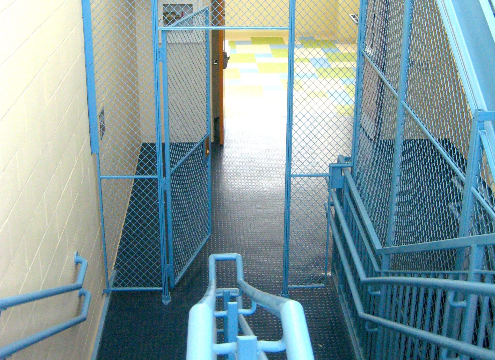 wire mesh stairwell enclosures