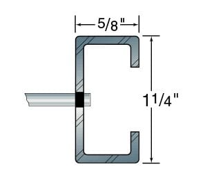 """1 1/4"""" x 5/8"""" Cee channel frame"""