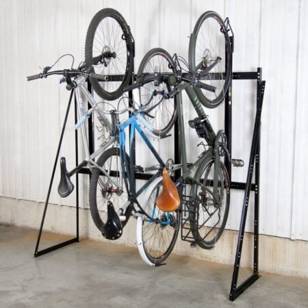 indoor parking_vertical rack_with bikes